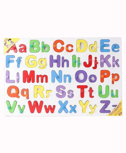 Anindita Wooden English Capital  & Small Alphabets Puzzle Multicolor - 52 Pieces