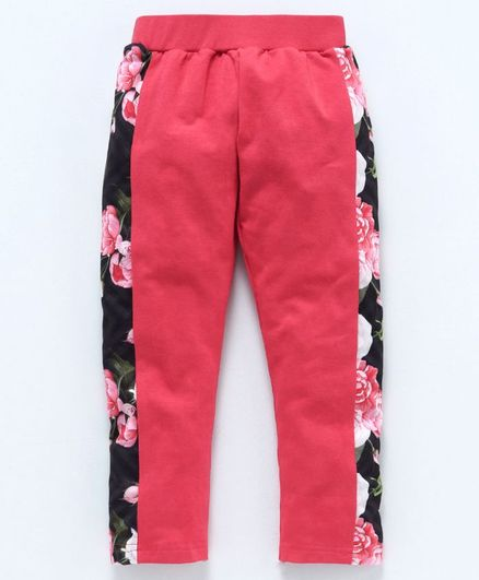 Eteenz Full Length Leggings Floral Print - Coral