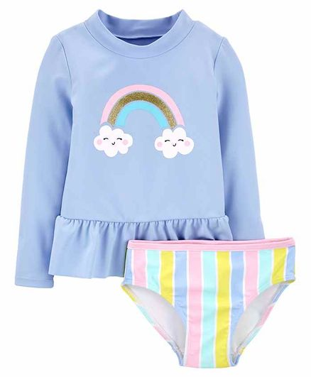 Carter's LS G Rainbow Rashguard Set - Blue Multicolour