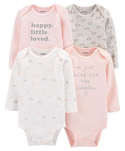Carter's 4-Pack Bear Original Bodysuits - Pink
