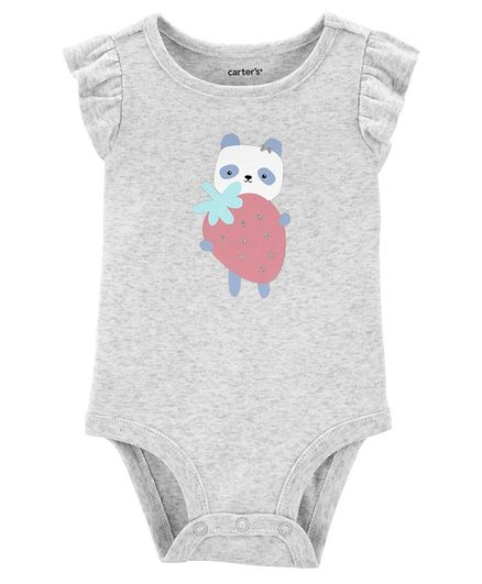 Carter's Strawberry Panda Collectible Bodysuit - Grey