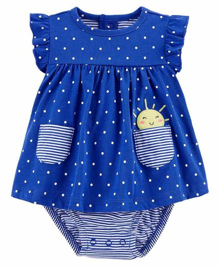 Carter's Polka Dot Bodysuit - Blue