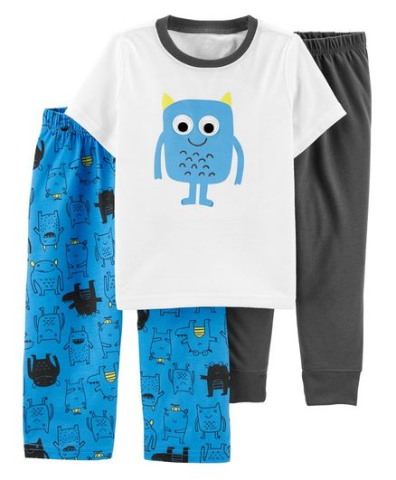 Carter/'s Baby Boys Car and Truck Print Cotton Sleeper White//Gray//Multi Preemie