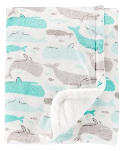 Carter's Whale Blanket - Blue