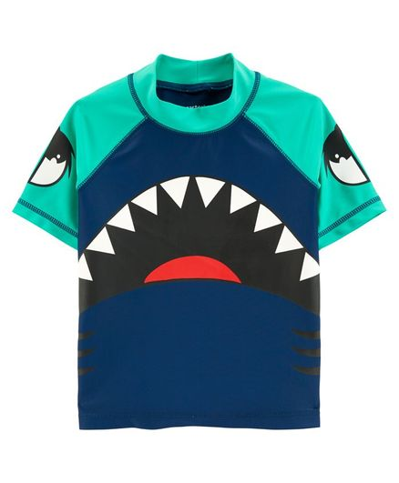 Carter's Shark Rashguard - Blue Green