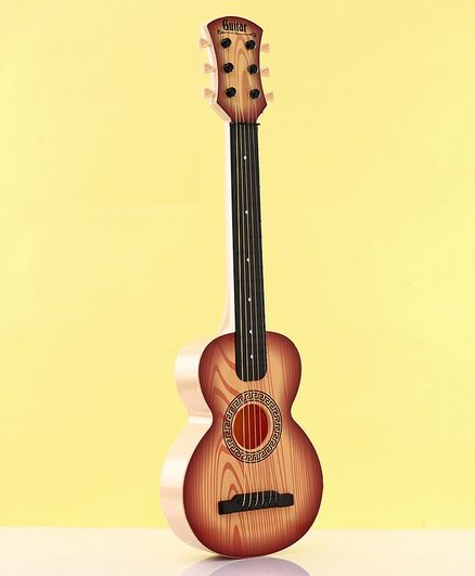 Musical Wooden Guitar Toy - Brown