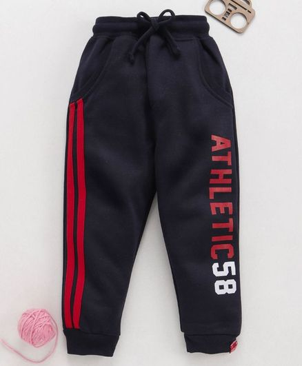 Olio Kids Full Length Track Pant Athletic Print - Black