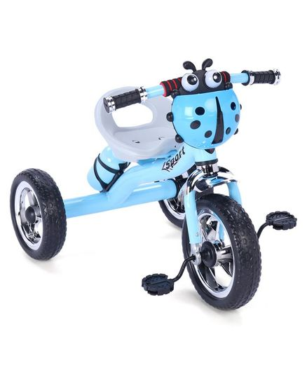 Musical Tricycle With Water Bottle Lady Bug Design - Blue