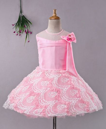 Enfance Embroidered Sleeveless Dress - Pink