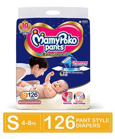 MamyPoko Pant Style Diapers Small - 126 Pieces