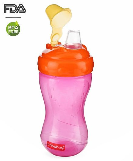 Babyhug Ergo Grip Soft Spout Sipper - Pink Orange