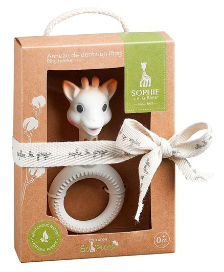 Sophie la Girafe So'pure Ring teether - White
