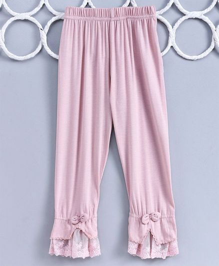 Kookie Kids Full Length Solid Color Leggings - Light Pink