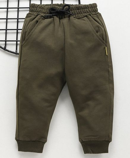 .Meng Wa Full Length Solid Color Lounge Pant - Green