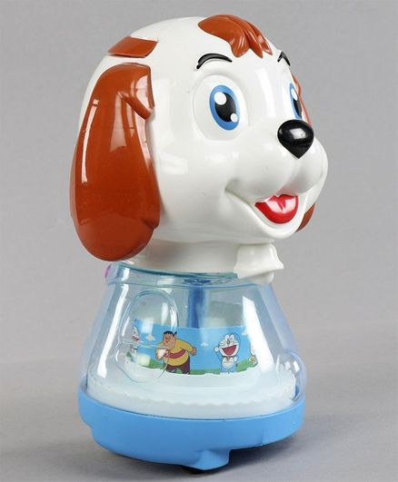 Musical Toy Puppy Shaped Coin Bank - White Blue