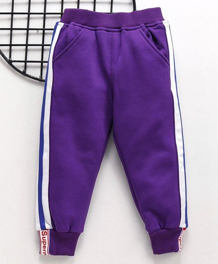 Meng Wa Full Length Solid Color Lounge Pant - Purple