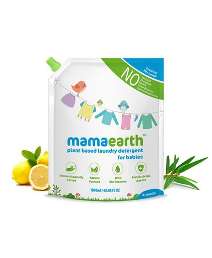 Mamaearth's Plant Based Baby Laundry Liquid  Detergent Refill Pack - 1800 ml