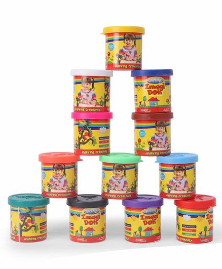 Imagician Playthings Mega Pack Multicolour Pack of 12 - 50 Grams Each