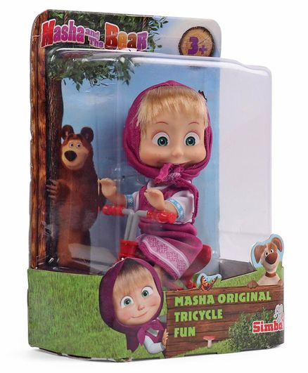 Masha And The Bear Doll Figure Pink - Height 12 cm