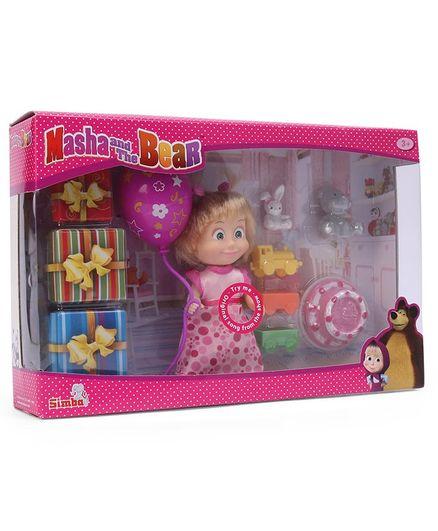 Masha The Bear Birthday Set Pink 12 Cm Online India Buy