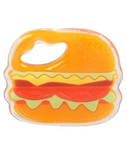 Mee Mee Multi Textured Soft Silicone Teether Burger Shaped - Orange