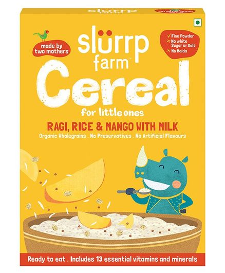 Slurrp Farm Ragi Rice Mango and Milk Cereal - 200 gm