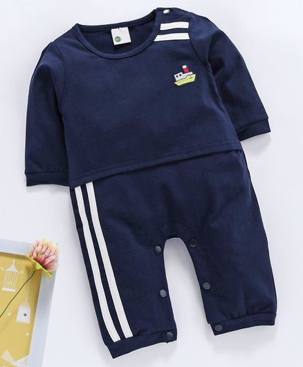 Kookie Kids Full Sleeves Romper - Navy