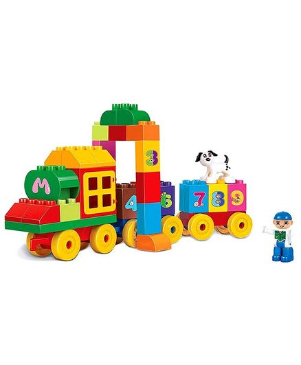 Webby Classic Train Numbers Building Block Toy Set - 63 Pieces