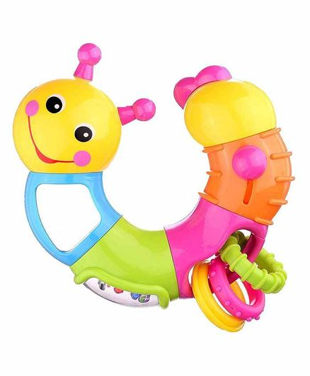 Planet of Toys Twist & Play Lovely Caterpillar Worm Rattle Toy - Multicolor