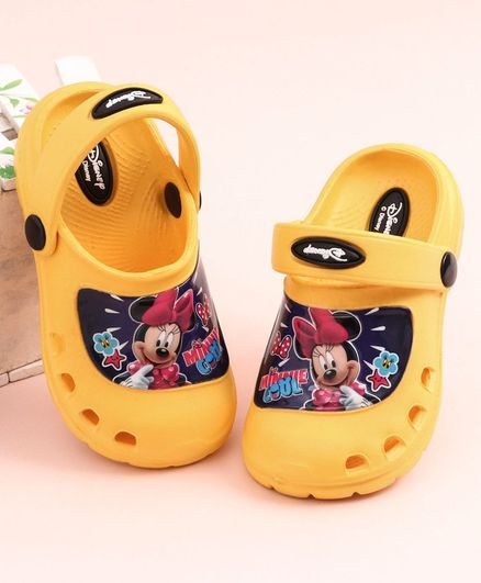Cute Walk by Babyhug Clogs Minnie Mouse Print - Yellow