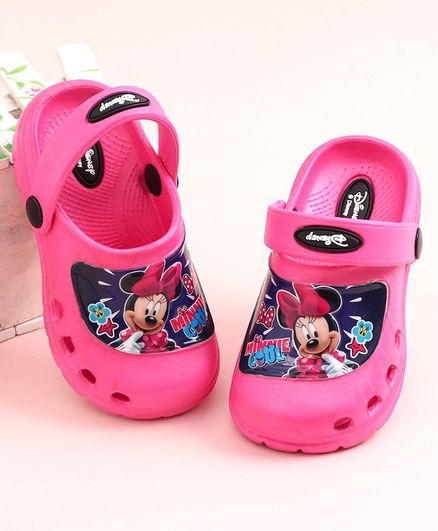 Cute Walk by Babyhug Clogs Minnie Mouse Print - Pink