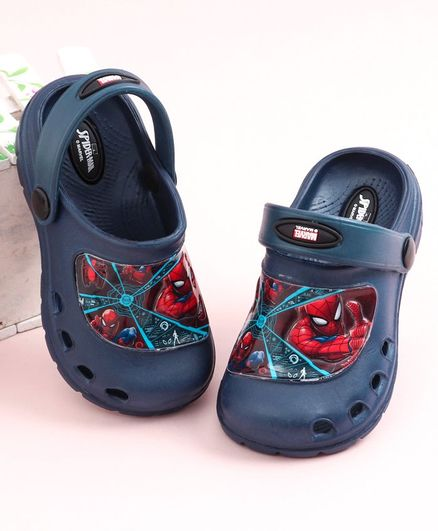 Cute Walk by Babyhug Clogs Spiderman Print - Navy