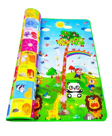 Skylofts Waterproof Double Side Play Crawl Floor Mat With Zip Bag (6 X 4 ft) - Multicolor