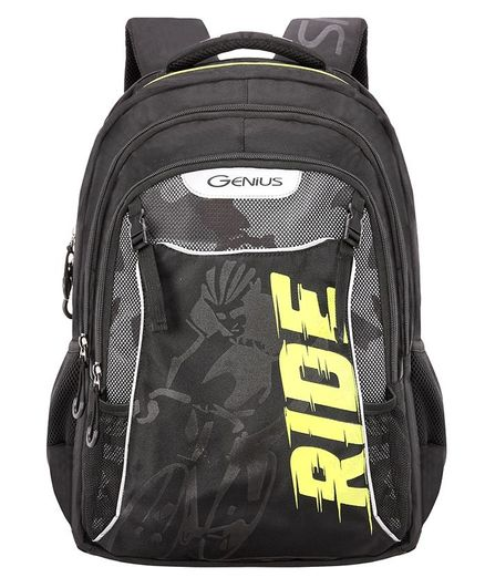 Genius Axle Backpack Black - 17 Inches