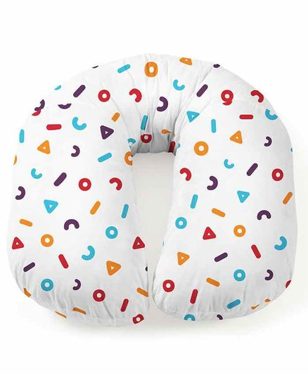 Rabitat Duo Motherhood Pregnancy Cum Feeding Pillow Memphis Print - Multicolour