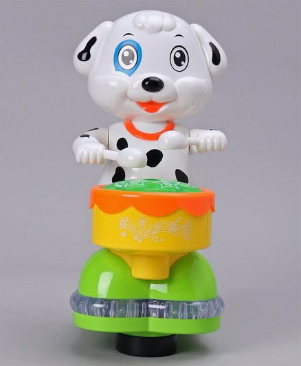 Musical Toy Puppy - White