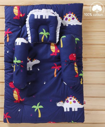 Babyhug Bedding Set Dino Print - Navy