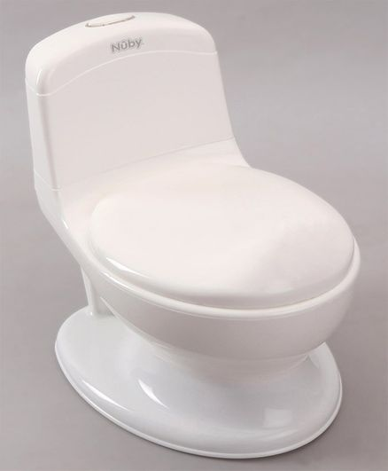 Nuby My Real Potty Realistic Training Toilet - White