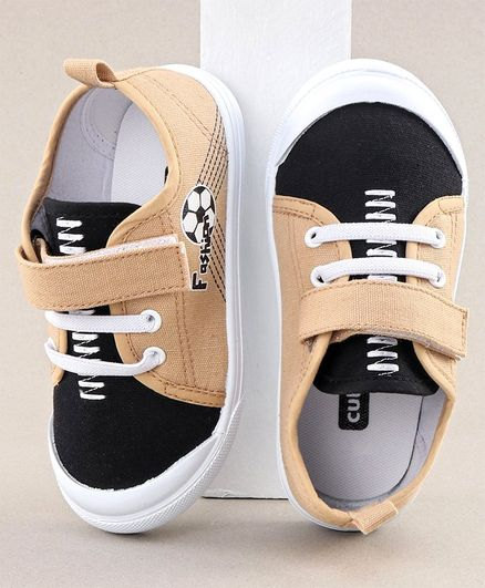 Cute Walk by Babyhug Casual Shoes Football Print - Beige