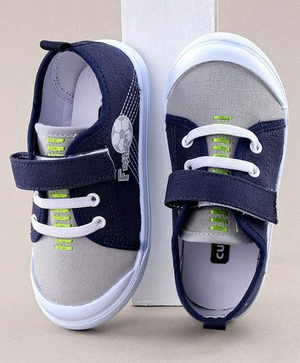 Cute Walk by Babyhug Casual Shoes Football Print - Grey