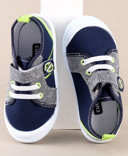 Cute Walk by Babyhug Canvas Shoes - Navy
