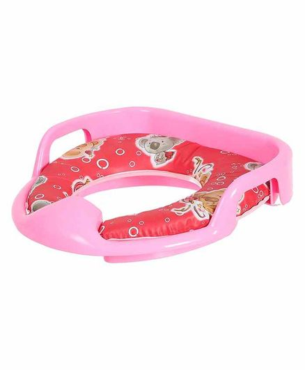 Dash Soft Cushioned Baby Potty Seat Animal Print - Red Pink