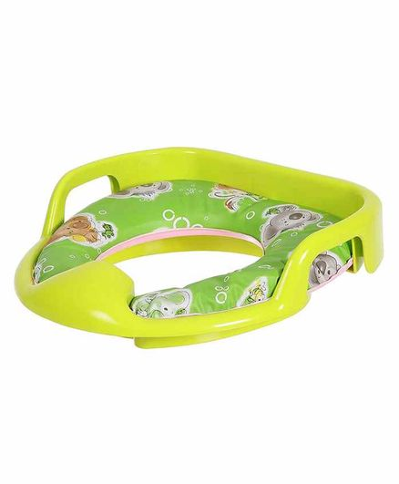 Dash Soft Cushioned Baby Potty Seat Animal Print - Green