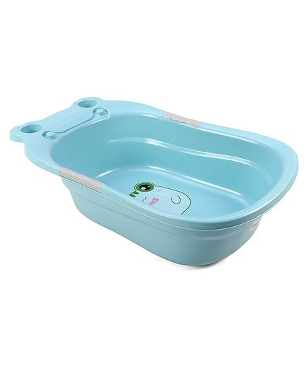 Babyhug Baby Bath Tub Smiley Print - Blue