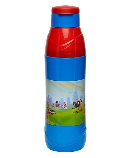 Imagica Thenme Park Print Water Bottle Blue - 600 ml