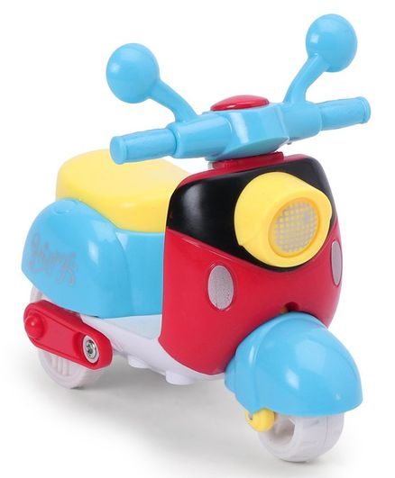 Friction Toy Scooter - Multicolor