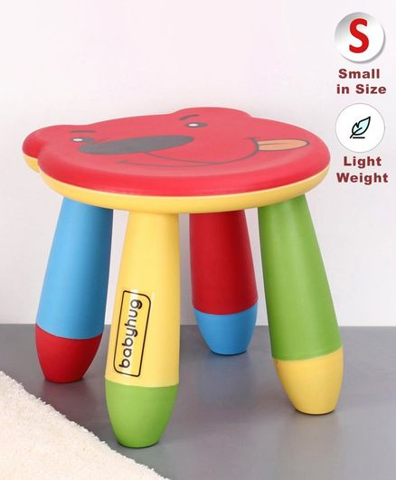 Babyhug Stool Bear Design - Red