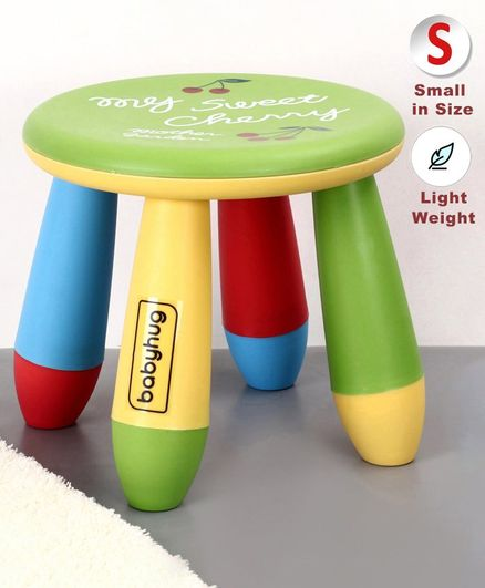 Babyhug Stool Cherry Print - Green& Multicolor