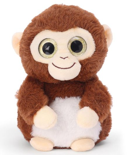 Wild Republic Sparkle Monkey Soft Toy Brown - Height 19 cm