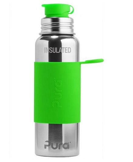 Pura Stainless Steel Anti Colic Insulated Sports Water Bottle Green - 650 ml